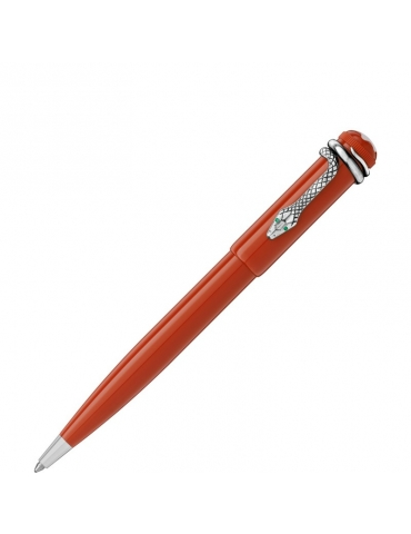 Penna a Sfera Montblanc Heritage Rouge et Noir Corallo
