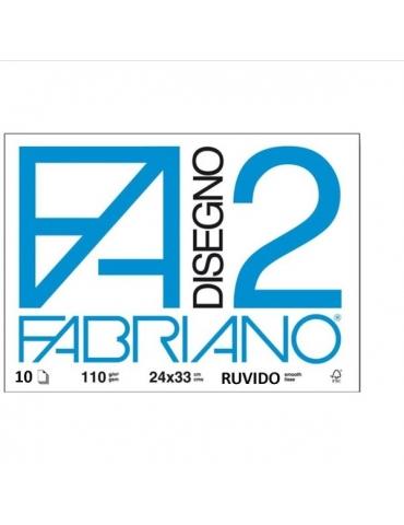 Blocco Fabriano F2 516 Ruvido 24x33 212 - Mega 1941
