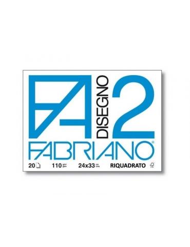 Blocco Fabriano F2 516 Riquadrato 24x33 213 - Mega 1941