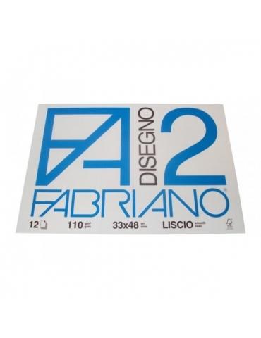 Blocco Fabriano F2 534 Liscio 33x48 214 - Mega 1941