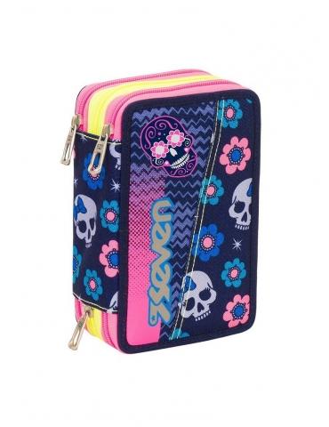 Astuccio Scuola Elementare Seven 3 zip Mexi Girl