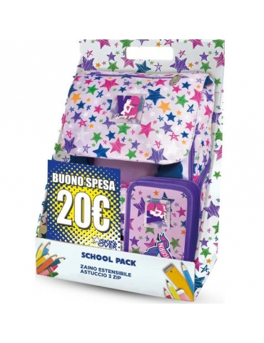 School Pack Skin Over Young Girl Stars