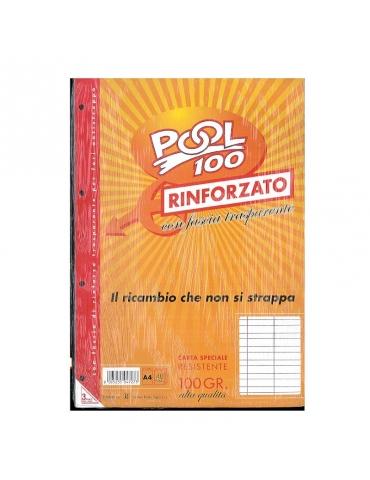Ricambio Pool Fogli a Buchi Maxi Rinforzati Righe B 100 Gr. Confezione 40 Fogli