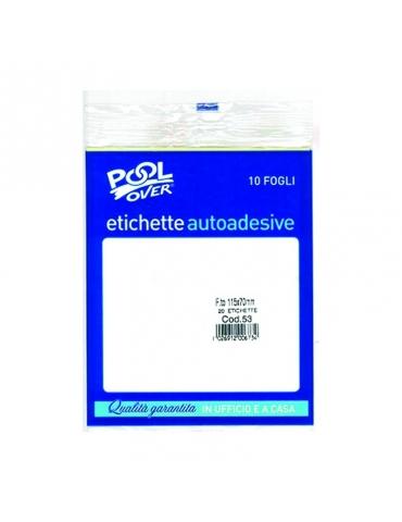 Etichette Autoadesive in Busta - Misure Assortite - Confezione da 10 fogli