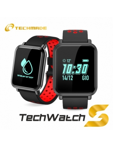 Smartwatch Techmade Techwatch S1 Nero/Rosso