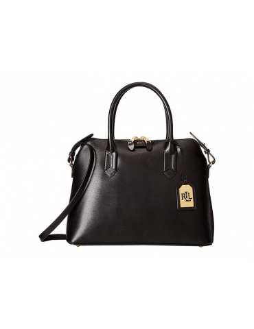 Borsa Ralph Lauren Donna Tate Dome Satchel Black