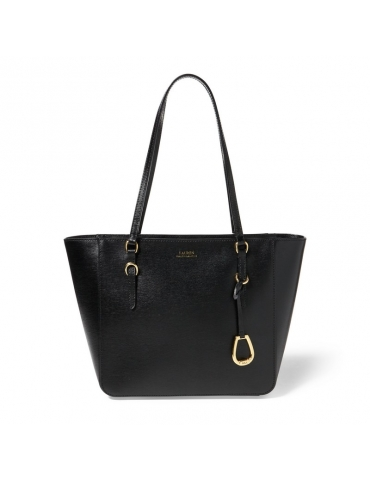 Borsa Ralph Lauren Donna Tote Oxford Pelle Black
