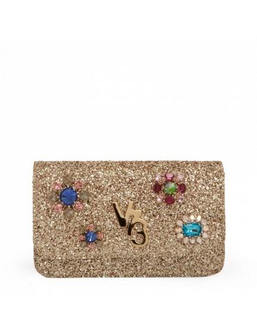 Pochette V°73 Donna Stella Glitter Clutch Oro