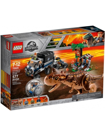 LEGO Jurassic World Fuga dal Carnotaurus sulla girosfera