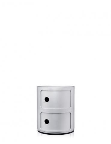 Mobile Contenitore Kartell Componibile Argento Satinato