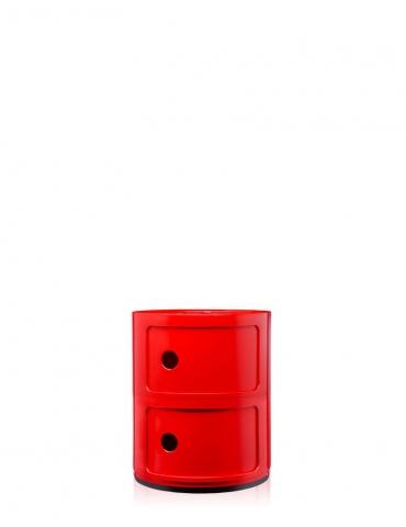Mobile Contenitore Kartell Componibile Rosso