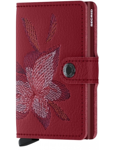 Portacarte Secrid Miniwallet Stitch Magnolia-Rosso