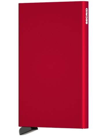 Portacarte Secrid Cardprotector Alluminio Rosso
