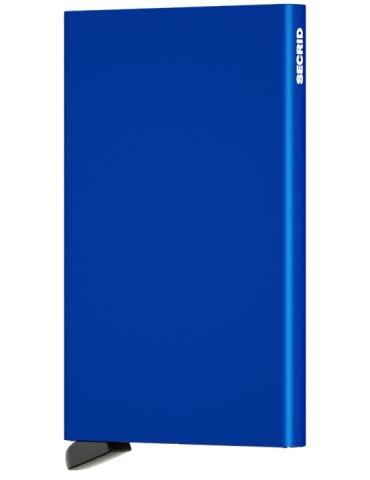 Portacarte Secrid Cardprotector Alluminio Blu