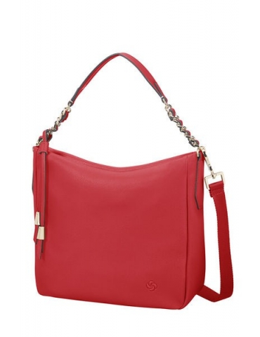 Borsa Samsonite Donna Satiny Hobo Scarlet Red