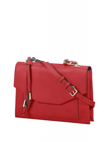 Borsa Samsonite Donna Satiny Tracolla M Scarlet Red