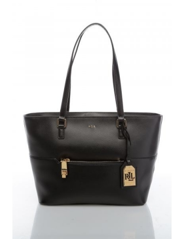 Borsa Ralph Lauren Donna Pocket Shopper Black