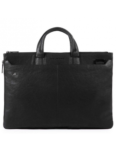 Borsa Espandibile Piquadro Black Square PC 17.3'' Nero