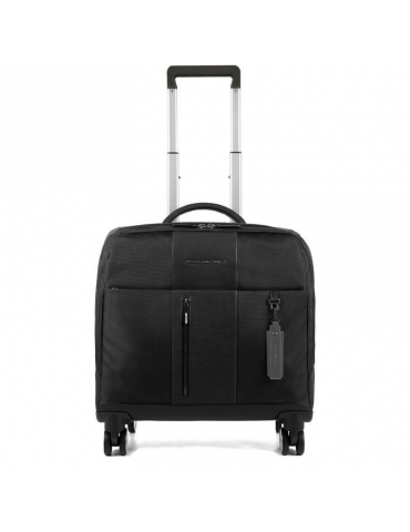 Trolley Piquadro Piccolo Porta PC, Ipad con USB e Micro-USB Nero
