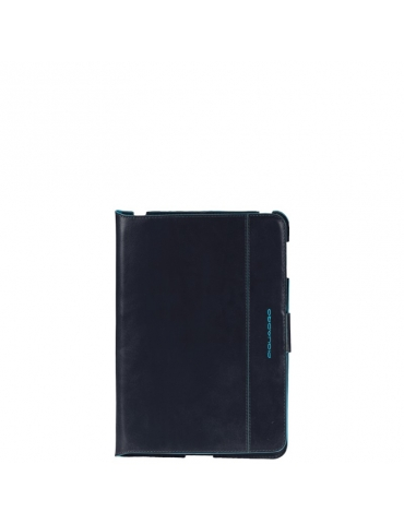 Custodia Piquadro Ipad Mini Blue Square in Pelle