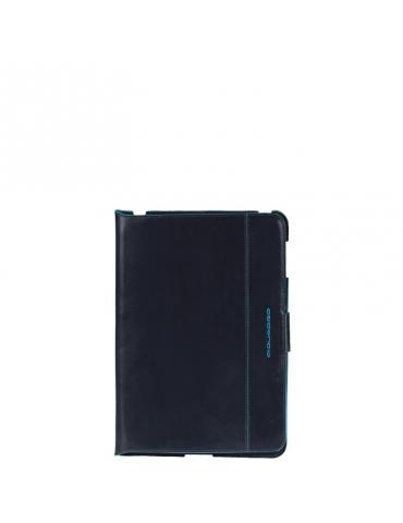 Custodia Piquadro Ipad Mini Blue Square in Pelle