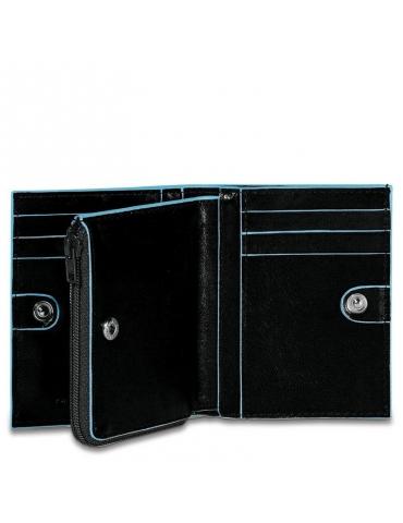 Portafoglio Piquadro piccolo con porta monete e porta carte di credito PU1351B2 - Mega 1941