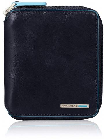 Portafoglio Piquadro con Portamonete Blue Square Blu