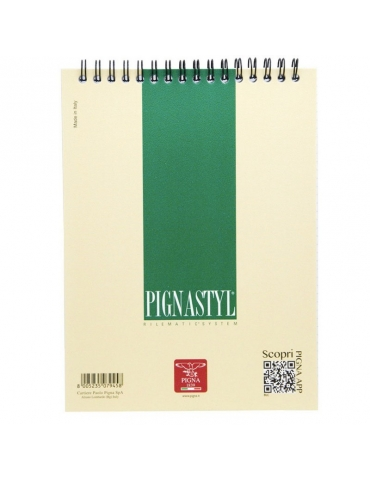 Block Notes 10x15 Pignastyle con Spirale Rigato 5mm Conf. 10 Pezzi