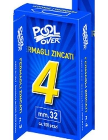 Fermagli Zincati Pool Over N.4 Conf. 10 Pezzi