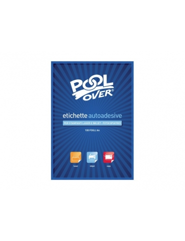 Etichette Adesive Pool Over con Margine Formato A4 105x36