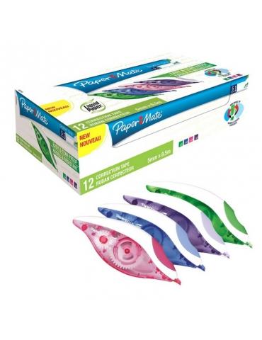 Correttore a Nastro Papermate Dryline Grip Conf. 12 Pezzi