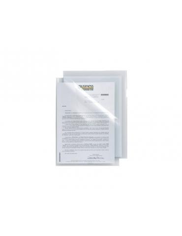 Cartellina Sei Poli 150 Trasparente Liscia 21x29 con Apertura a L