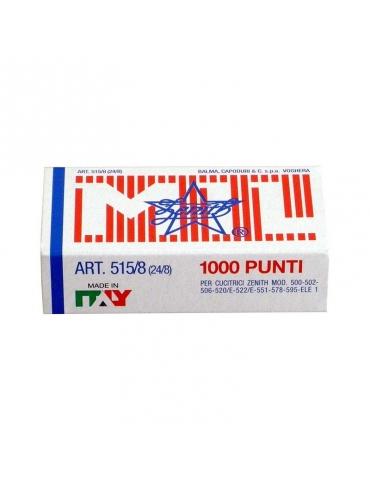 Punti Pinzatrice Zenith 515 24/8 Conf. 10 Scatole