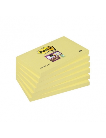 Blocco Adesivo Post-it 3M Colore Giallo 76x127 Conf. 12 Pezzi