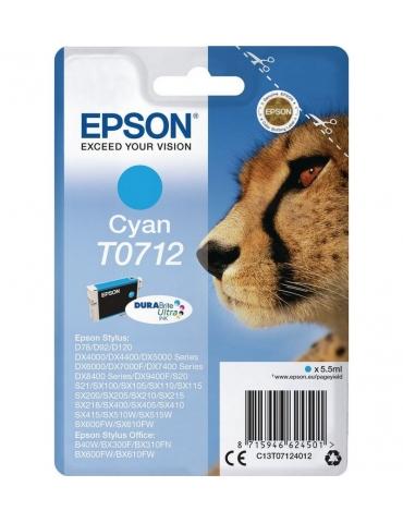 Cartuccia Stampante Epson T0712 Ciano