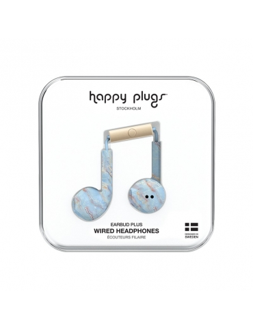 Auricolari Happy Plugs Blue Quartz