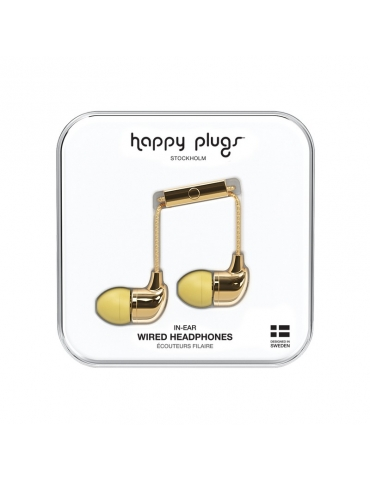 Auricolari Happy Plugs In-Ear Gold