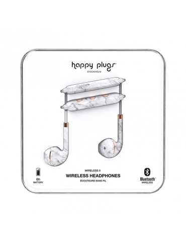 Auricolari Happy Plugs Wireless II Marble