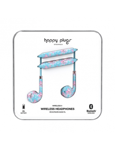 Auricolari Happy Plugs Wireless II Botanica Exotica
