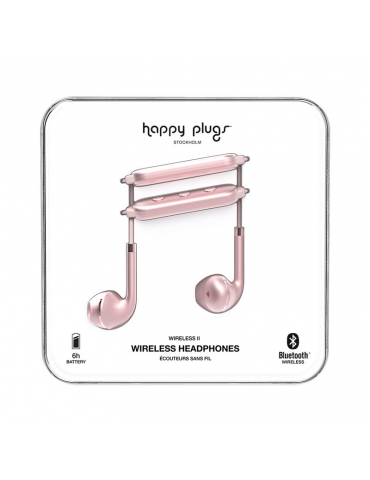Auricolari Happy Plugs Wireless II Pink
