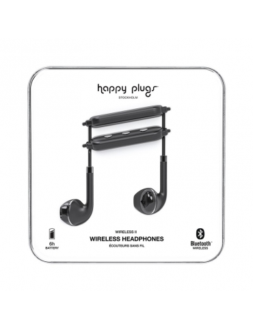 Auricolari Happy Plugs Wireless II Black
