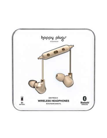 Auricolari Happy Plugs Wireless Ear Piece II Matte Gold