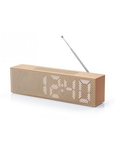 Radiosveglia Lexon Design Titanium Clock Aluminium