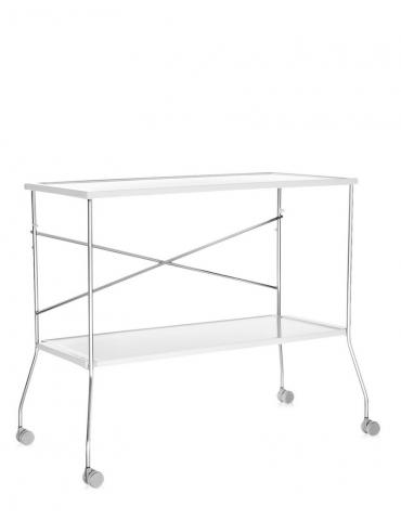 Carrello/tavolino Kartell Flip Bianco