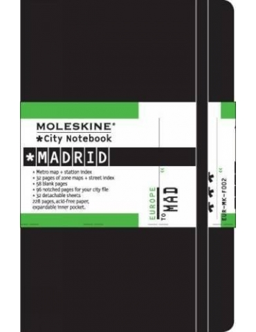 Taccuino Moleskine City Notebook Madrid Pocket 9x14