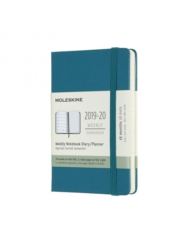 Agenda Moleskine 2019-20 Settimanale 18 Mesi Pocket 9x14 - Copertina Rigida - Verde Magnetico