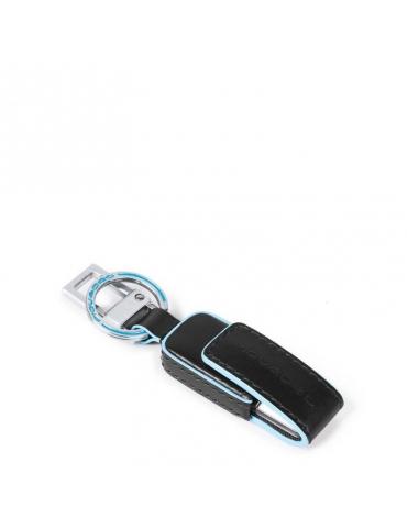 Portachiavi Piquadro in pelle con chiavetta USB da 16GB AC4246B2 - Mega 1941