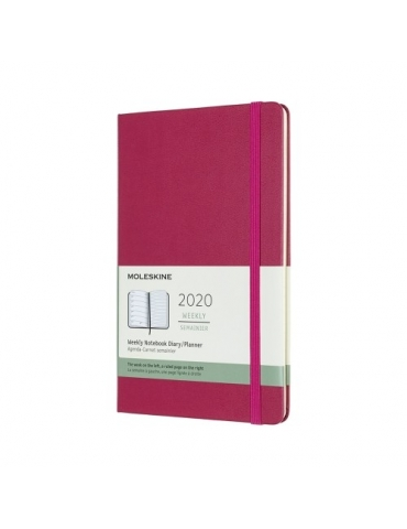 Agenda Moleskine 2020 Settimanale 12 Mesi Notebook Large 13x21 - Copertina Rigida - Rosa Snappy