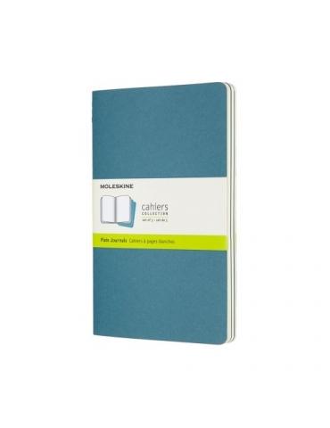 Quaderno Moleskine Cahiers Large 13x21 Pagina Bianca Blu