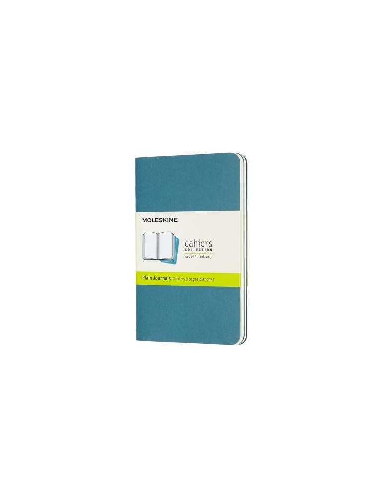 Quaderno Moleskine Cahiers Pocket 9x14 Pagina Bianca Blu